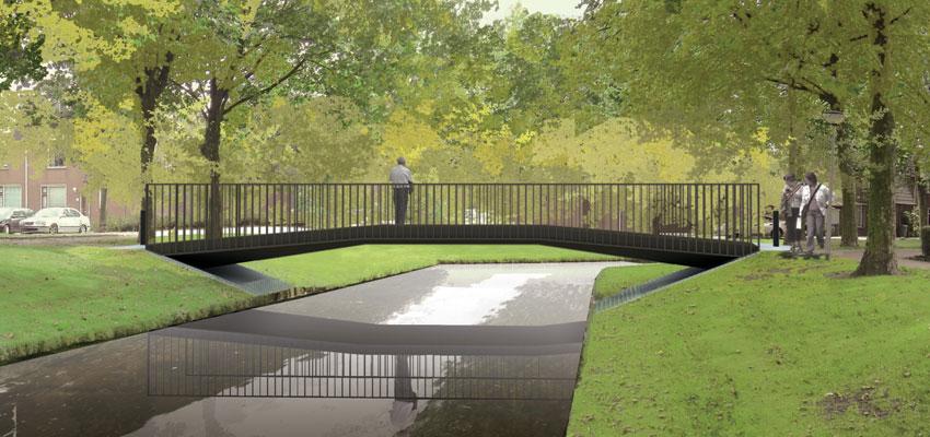 Opening brug Randpark Beverwaard te Rotterdam